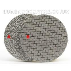 Bloom'its Miniature Garden Base Stone Round Pebble or Brick Effect Grey