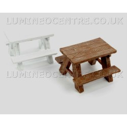 Bloom'its Miniature Picnic Table Available in White and Brown