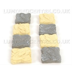 Bloom'its Miniature Grey or Cream Stone Effect Path Stepping Stones Square