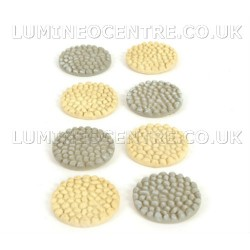 Bloom'its Miniature Grey or Cream Pebble Effect Path Stepping Stones Round