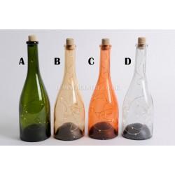 Lumineo 10 LED Warm White 27.5cm Glass Wine Bottle Lamps Choice of 4 Colours