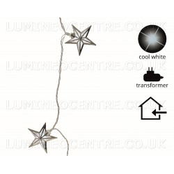 Lumineo 5.8m 30 Warm White LED Star Design Decoration Lights