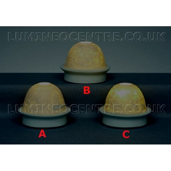 Premier led ceramic night lights available in 3 intricate designs