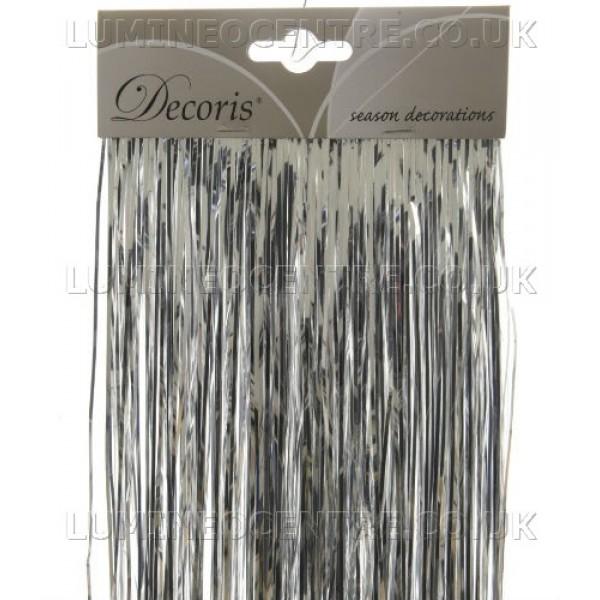 Decoris Silver Coloured Shiny Lametta Tinsel