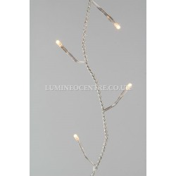 Lumineo 6m 80 LED Warm White Twinkle Lights Indoor and Outdoor
