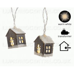Lumineo 20 Warm White LED Wooden Bauble Lights