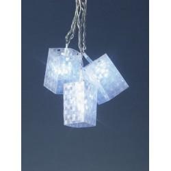 20 White LED Holographic Christmas Lights