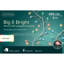 Lumineo Big & Bright Multicoloured Micro LED Compact Twinkle String Lights