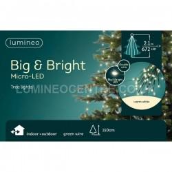 Lumineo 2.1m 672 LED Micro Static Extra Bright Sparkle Tree Lights