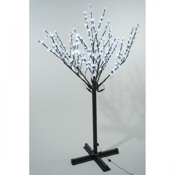 Christmas Tree Life Extender: Lumineo 215cm 600 Cool White LED Pre-lit Outdoor Blossom