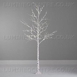Lumineo 240cm Cool White LED Prelit Birch Tree SUITABLE FOR OUTDOOR USE