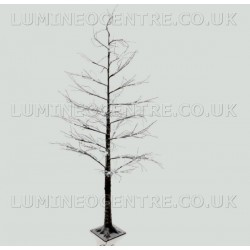 Lumineo 240cm LED Prelit Snowy Christmas Tree SUITABLE FOR OUTDOOR USE