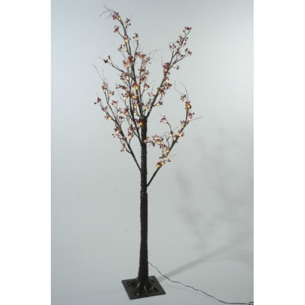 Christmas Tree Life Extender: Lumineo 125cm Warm White LED Pre-lit Frosted Berry
