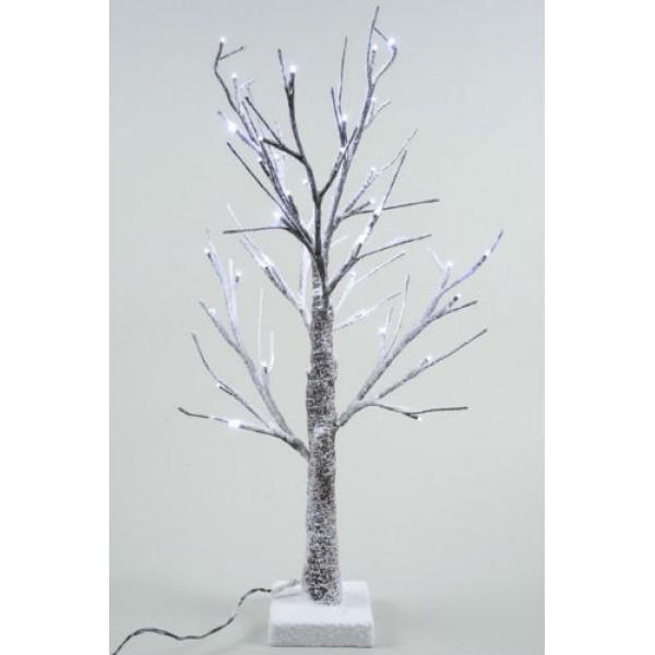 Christmas Tree Life Extender: Lumineo 60cm LED Prelit Snowy Paper Christmas Tree