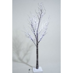 Lumineo 200cm LED Prelit Snowy Paper Christmas Tree SUITABLE FOR OUTDOOR USE
