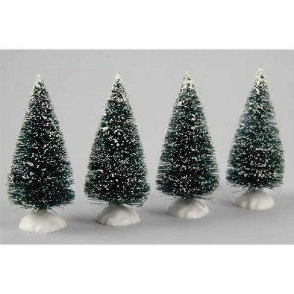 lumineo 4 miniature christmas trees - Miniature Christmas Decorations Uk