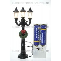 Lumineo 3 Head Miniature Battery Operated Street Lamp
